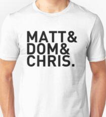 Matt&Dom&Chris. (black) T-Shirt
