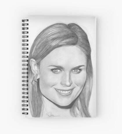 Emily Deschanel Spiral Notebook