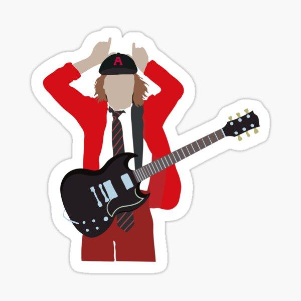 Angus Young AC / DC Minimalista Pegatina