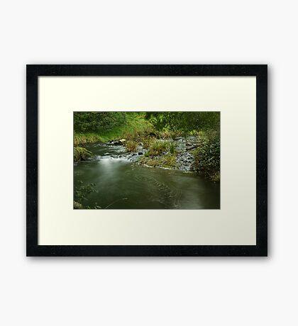 Guide River Swirls Framed Print