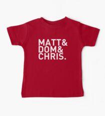 Matt&Dom&Chris. (white) Kids Clothes