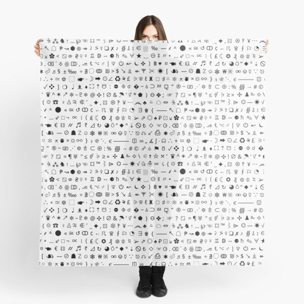 Esoteric symbols scarf - Unicode special characters - black/white Scarf