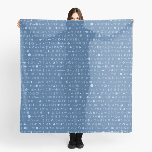 Esoteric symbols scarf - Unicode special characters - blue/airmail Scarf
