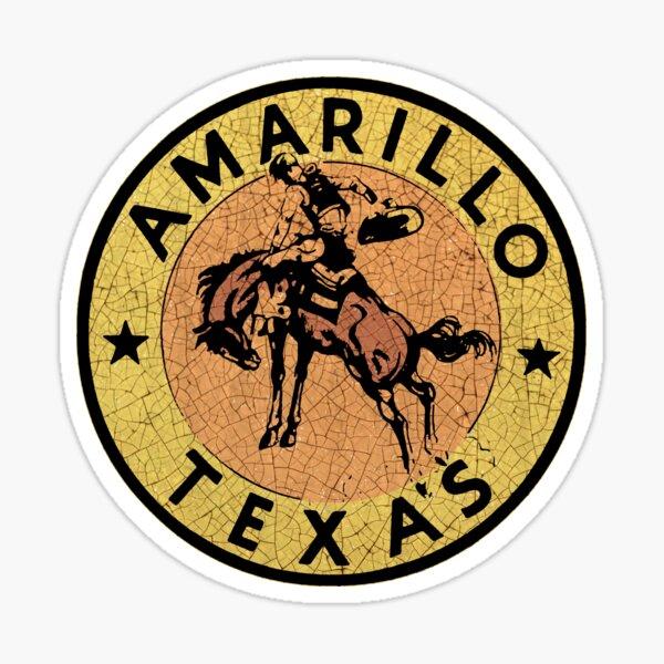 Calcomanía Vintage Amarillo Texas EE. UU. Pegatina