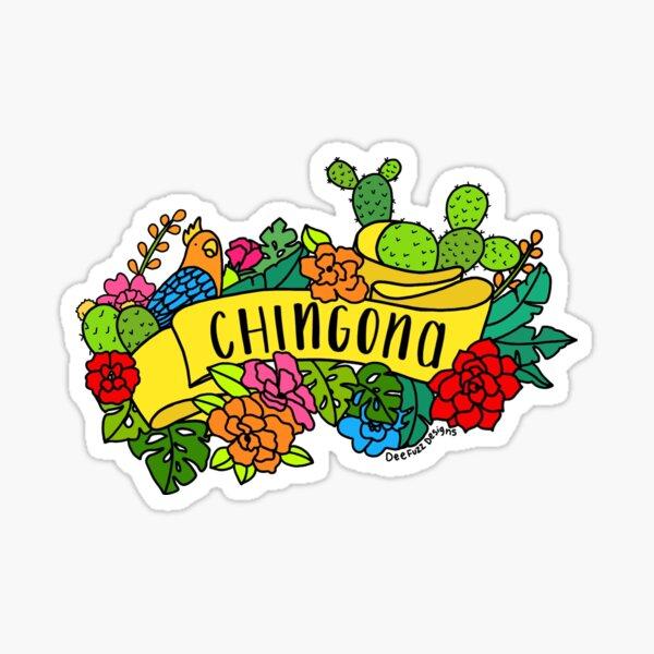 Colorful Chingona Sticker Sticker