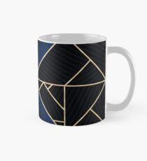 Deco Triangles Blue Classic Mug