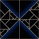 Deco Triangles Blue by Eric Pauker