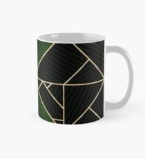 Deco Triangles Green Classic Mug