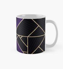 Deco Triangles Purple Classic Mug