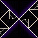 Deco Triangles Purple by Eric Pauker