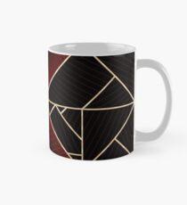 Deco Triangles Red Classic Mug