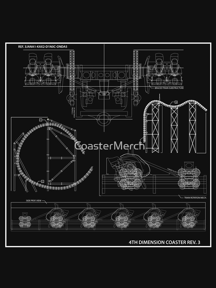 Arrow/S&S 4 Dimensional Coaster Blueprint by CoasterMerch