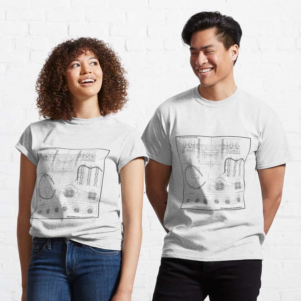 Arrow/S&S 4 Dimensional Coaster Blueprint - Black Classic T-Shirt