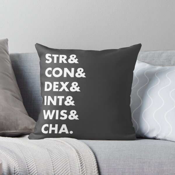 Dungeons & Dragons Abilities Throw Pillow