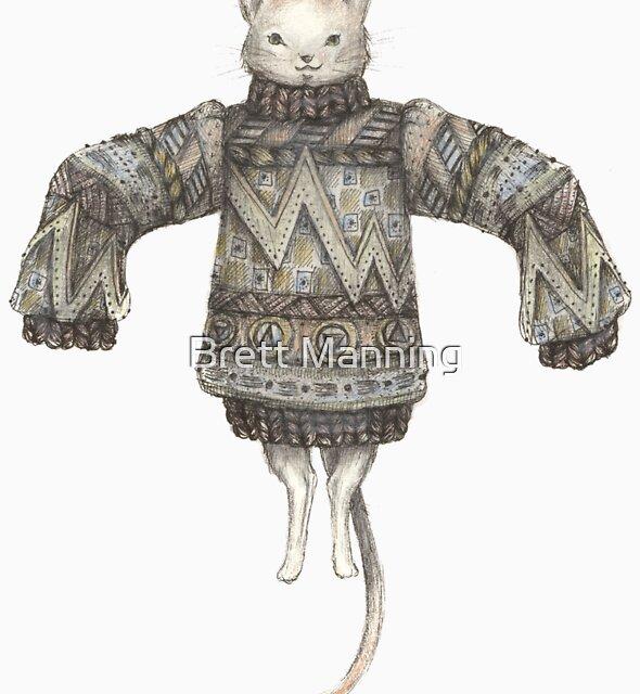 Sweater Puss T-Shirt by Brett Manning