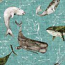 Atlantis Whales  by Esther  Fallon Lau