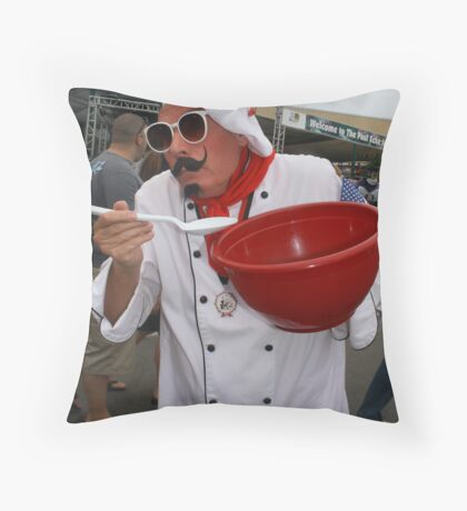 Le Chef, Dans La Rue! ( the cook in the street!) Throw Pillow