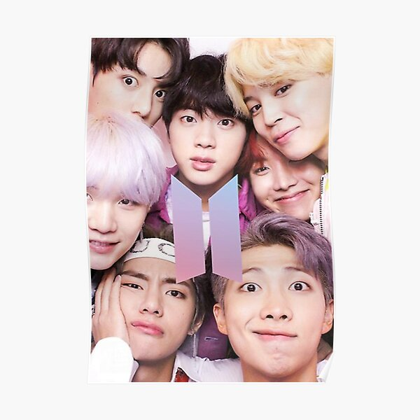 BTS Group PHOTO Case  Poster ECT  Selfie  With Logo Poster