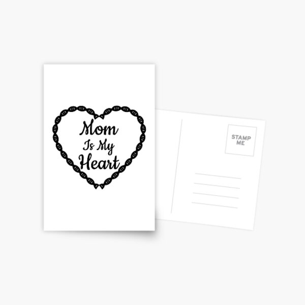 Postcard MY MAMA Heart Message incl Envelope Mother/'s Day Gift