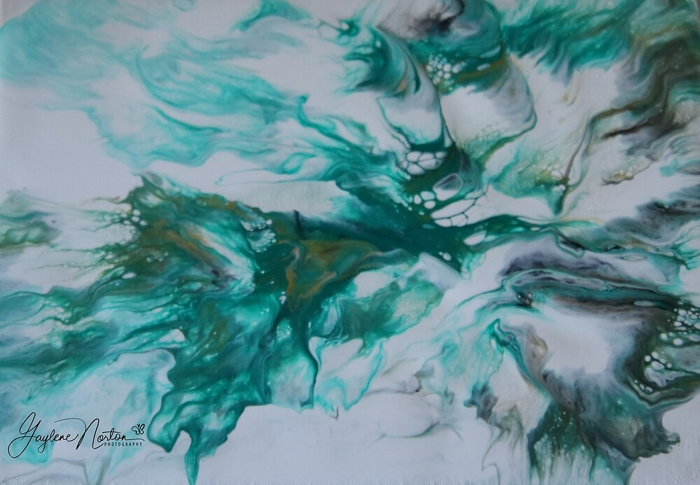 dutch pour painting - breezy by Gaylene Norton