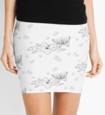 Just Add Colour - Tropical Butterfly Mini Skirt