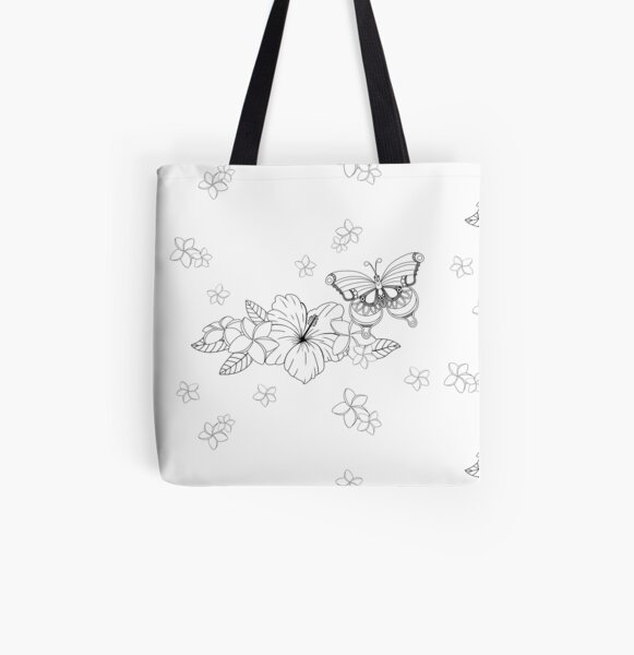 Just Add Colour - Tropical Butterfly All Over Print Tote Bag