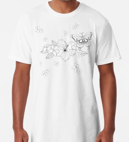 Just Add Colour - Tropical Butterfly Long T-Shirt