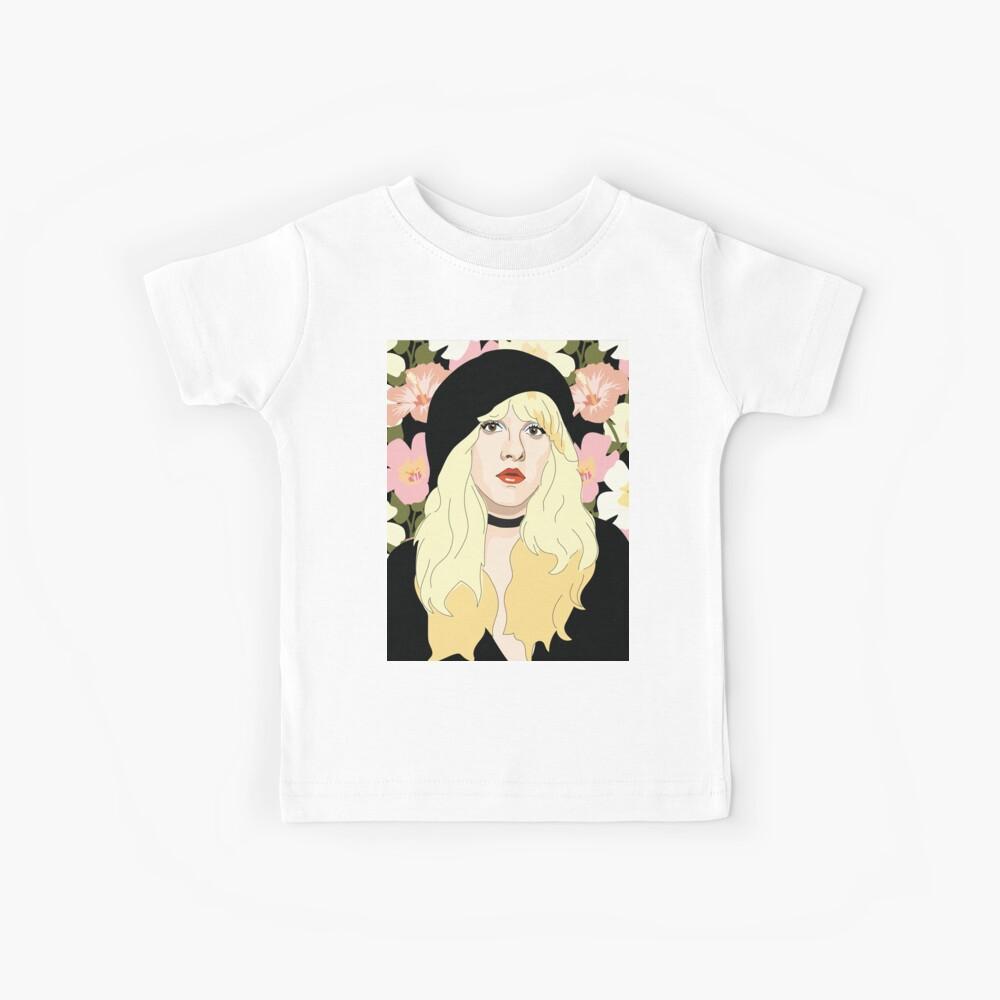 Stevie Nicks Floral Kids T-Shirt