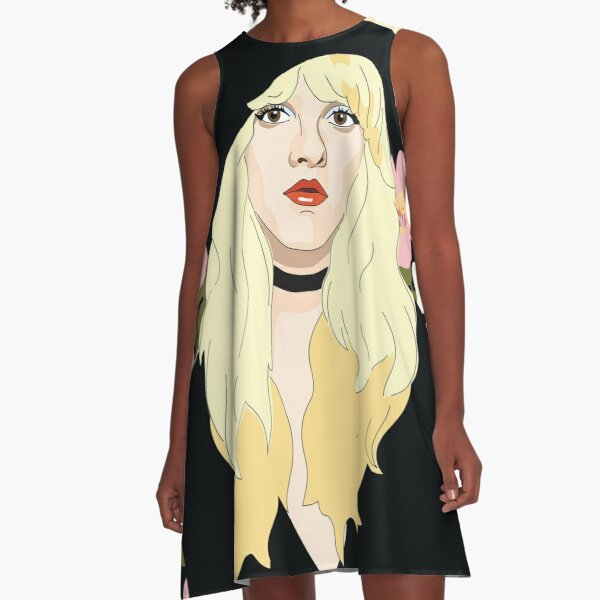 Stevie Nicks Floral A-Line Dress