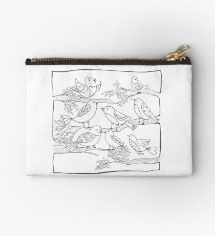 Just Add Colour - Birds of a Feather Studio Pouch