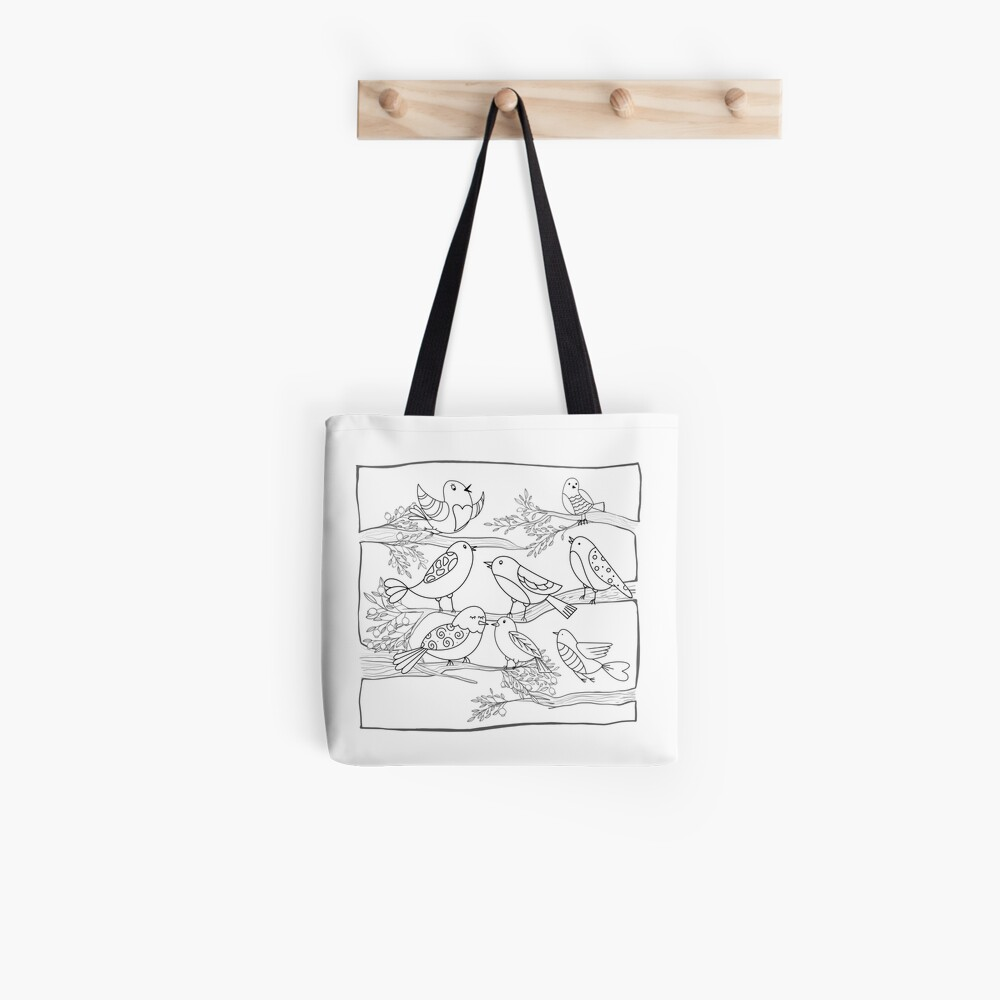 Just Add Colour - Birds of a Feather Tote Bag