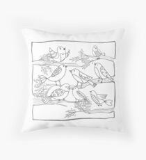 Just Add Colour - Birds of a Feather Throw Pillow