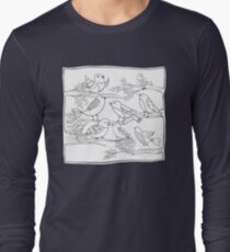 Just Add Colour - Birds of a Feather Long Sleeve T-Shirt