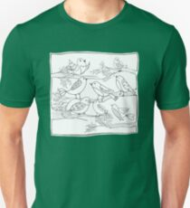 Just Add Colour - Birds of a Feather Slim Fit T-Shirt
