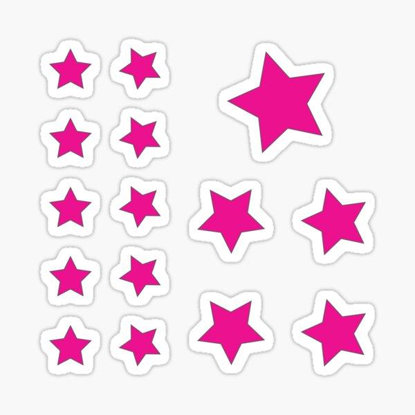 Hot Pink Star Sticker Pack Sticker