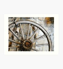 Wagon Spare Wheel Art Print