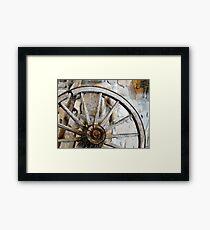 Wagon Spare Wheel Framed Print