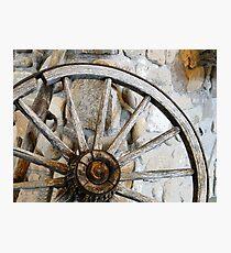 Wagon Spare Wheel Photographic Print