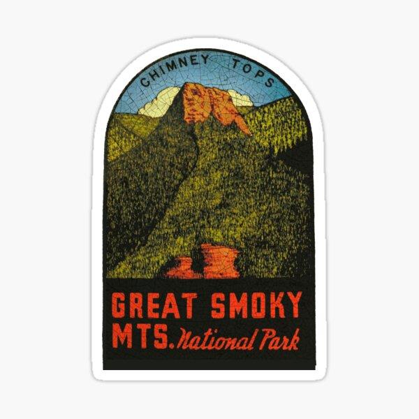Great Smoky Mountains Vintage Souvenir decal Sticker