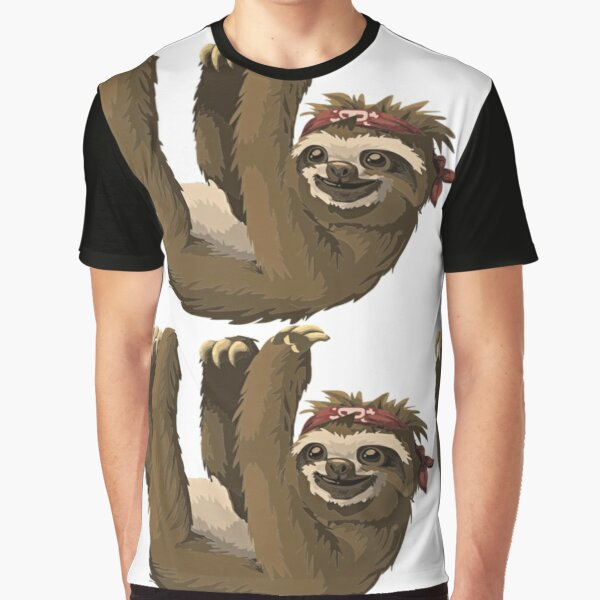 Sloth Hanging Out  Graphic T-Shirt