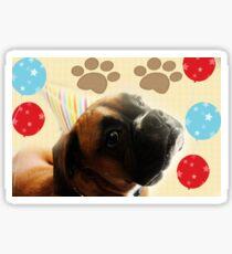 Schauen Sie, wer 1 - Boxer Dog Series ist Sticker