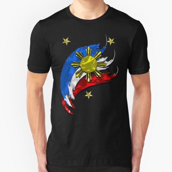 Philippine  Flag Slim Fit T-Shirt