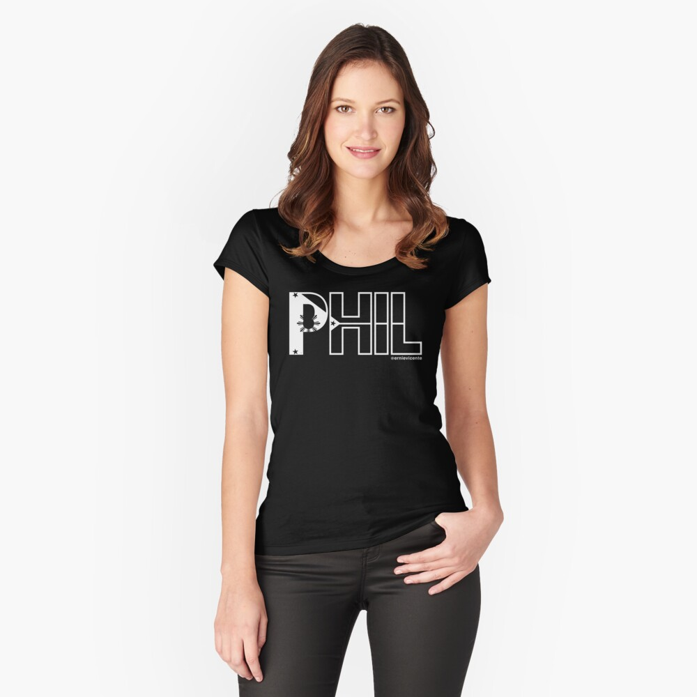 Phil T-shirt with white logo Fitted Scoop T-Shirt