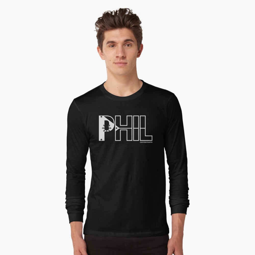 Phil T-shirt with white logo Long Sleeve T-Shirt