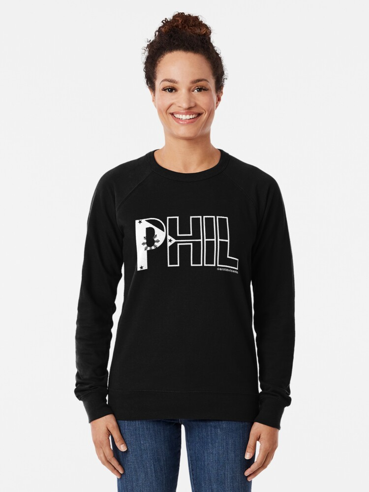 Alternate view of Phil T-shirt with white logo Lightweight Sweatshirt