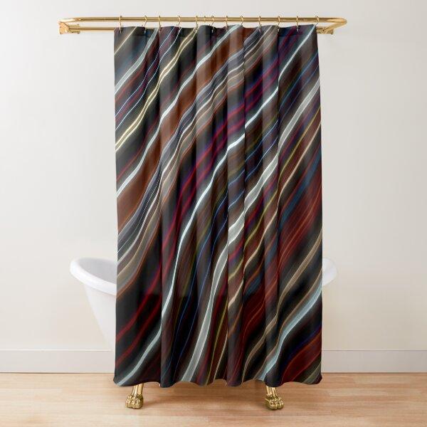 Wild Wavy Lines 42 Shower Curtain
