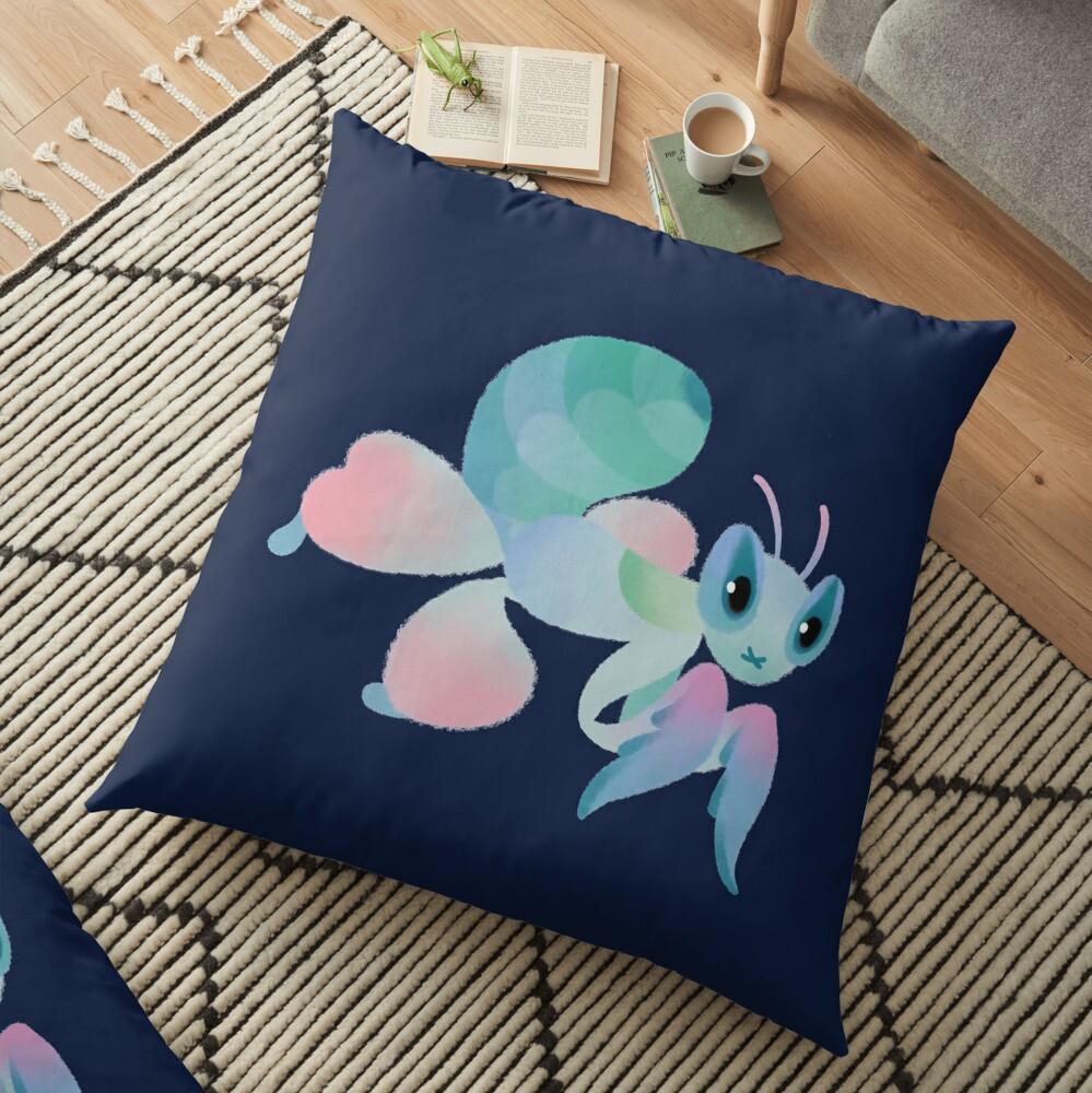 Orchid mantis Floor Pillow