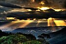Golden Ray Sunset | Megalong Valley |  NSW | The Blue Mountains | Australia | HDR by DavidIori
