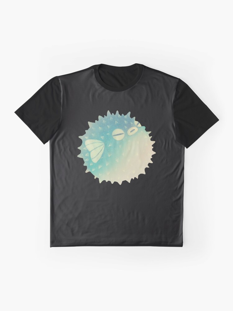 Alternate view of Hmph - Pufferfish Graphic T-Shirt