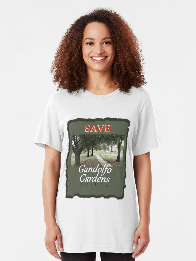 Alternate view of Save Gandolfo Gardens Slim Fit T-Shirt